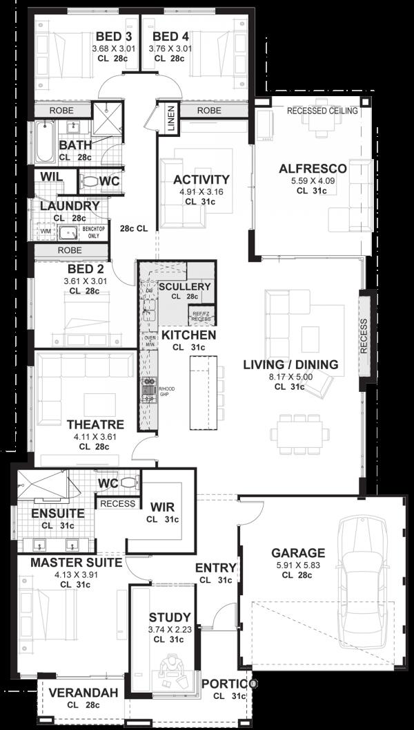 House Plan SA - Single Storey