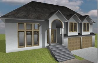 Single Storey House 3D Render