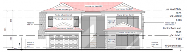 Double Storey - PDP - 002 - North Elevation
