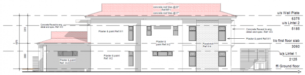 Double Storey - PDP - 002 - West Elevation