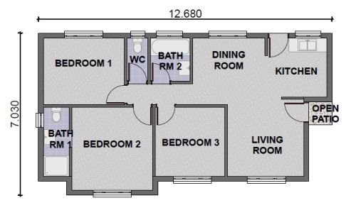 Single Storey - PDP - 017 Floor Plan