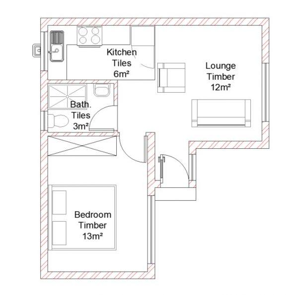 Single Storey - PDP - 025 - Floor Plan